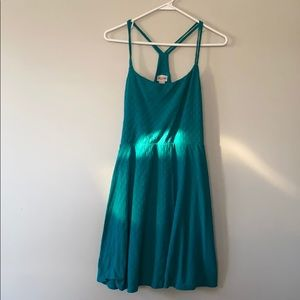 Teal summer dress